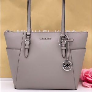 Michael Kors Charlotte Tote Shoulder Bag Grey